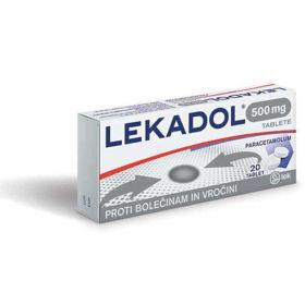 Slika Lekadol 500 mg, 20 tablet