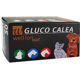 Slika Wellion Gluco Calea merilni lističi za glukozo, 50 lističev + 3 čipi