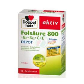 Slika Doppelherz aktiv Folna kislina 800 +B6+B12+C+E DEPO, 60 tablet