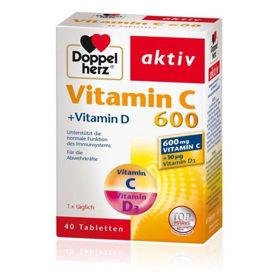 Slika DoppelHerz Aktiv vitamin C 600 + vitamin D, 40 tablet