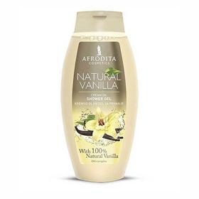Slika Afrodita Natural Vanilla kremno oljni gel za prhanje, 250 mL