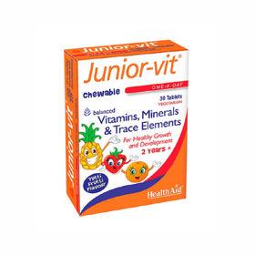Slika Health-Aid Junior-Vit vitamini in minerali, 30 tablet